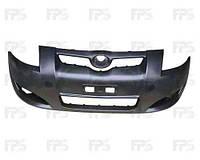 Бампер передний Toyota Auris 07-12 без отверстий омывателя (FPS)