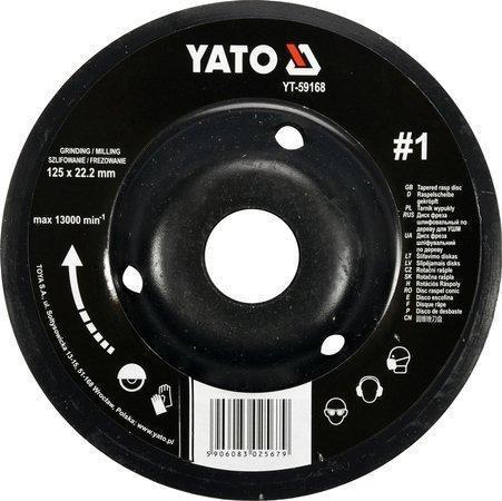 Диск-фреза шлифовальный 125х22.2 мм YATO YT-59168 (Польша)