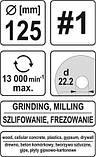 Диск-фреза шлифовальный 125х22.2 мм YATO YT-59168 (Польша), фото 4