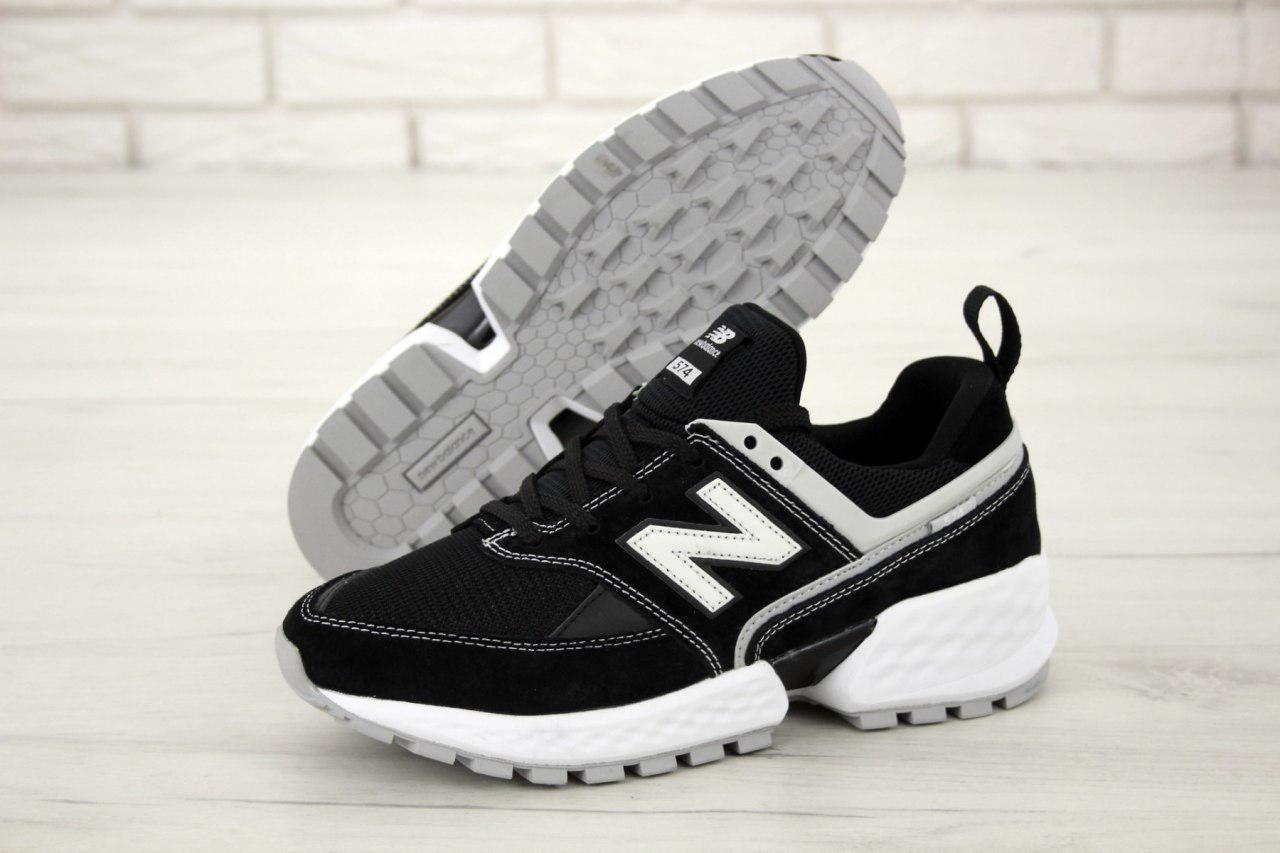 Кроссовки мужские New Balance 574 Sport V2 31408 бело-черные