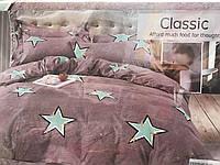 Байковый  комплект постельного белья Байка ( фланель)   Звездочки