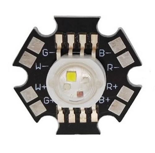 Светодиод RGBW 4х3 Вт на подложке 20 мм