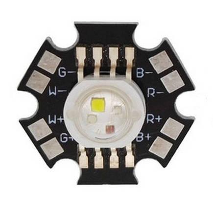 Светодиод RGBW 4х3 Вт на подложке 20 мм, фото 2