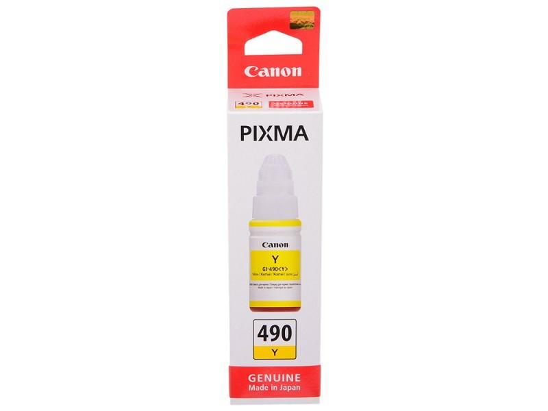 Чорнило Canon GI-490 PIXMA G1400/2400/3400 Yellow (0666C001) 70 мл