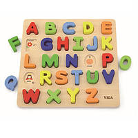 """Набор для обучения Viga Toys """"Алфавит: слово на букву"""" (50124)"""