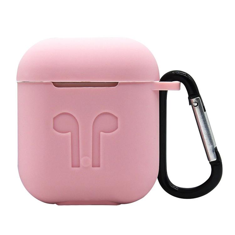 Силиконовый противоударный чехол - Airpods Apple. Розовый