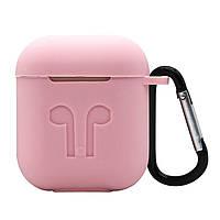 Силиконовый противоударный чехол - Airpods Apple. Розовый, фото 1