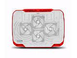 Охлаждающая подставка для ноутбука CoolCold K21-2, (белый/красный, белый/фиолетовый), фото 2