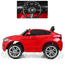 Детский электромобиль BMW X6M. Звуковые и световые эффекты. SD, USB. Красный. JJ2199EBLR-3, фото 3