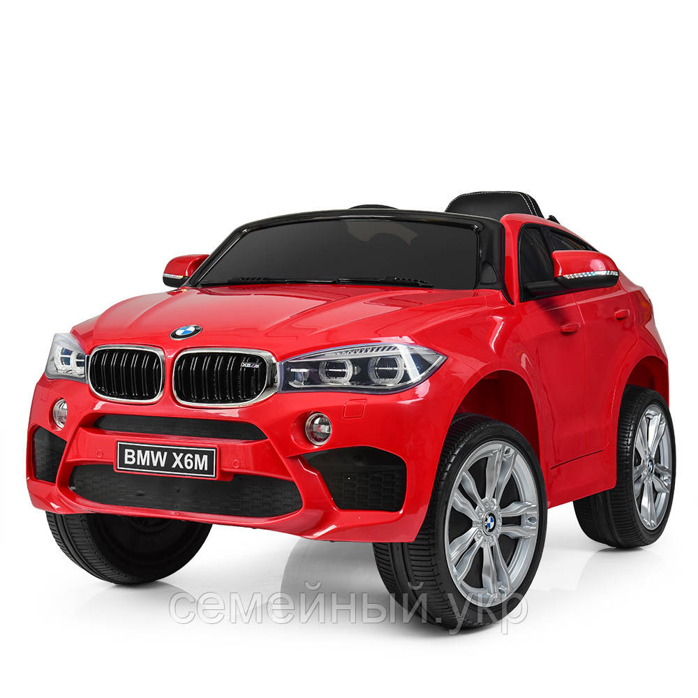 Детский электромобиль BMW X6M. Звуковые и световые эффекты. SD, USB. Красный. JJ2199EBLR-3