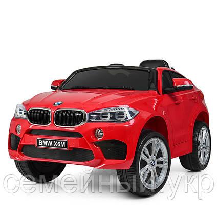 Детский электромобиль BMW X6M. Звуковые и световые эффекты. SD, USB. Красный. JJ2199EBLR-3, фото 2