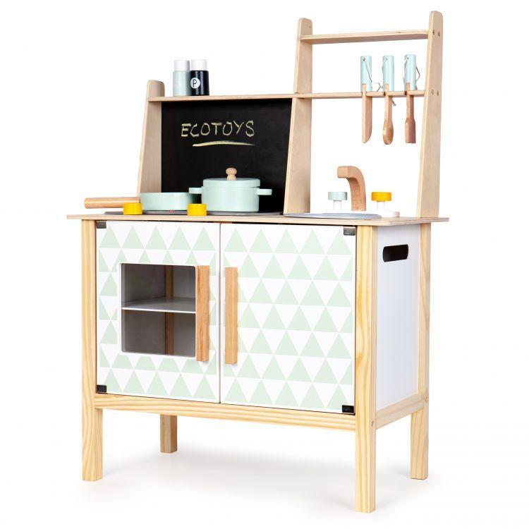 Дитяча дерев'яна кухня EcoToys CA12092 + аксесуари (9117)