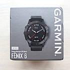 Смарт-годинник Garmin Fenix 6 Sapphire - Carbon Gray DLC with Black Band зчорним ремінцем, фото 4