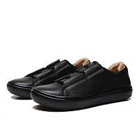 Мужские кожаные кроссовки кеды ECCO KINHIN, чёрный. Размер 41-44, фото 1