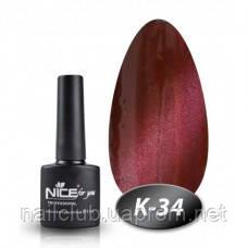 Кошачий глаз гель лак для ногтей Nice К-34