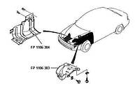 Защита бампера переднего левая Daewoo Lanos 98- (FPS)