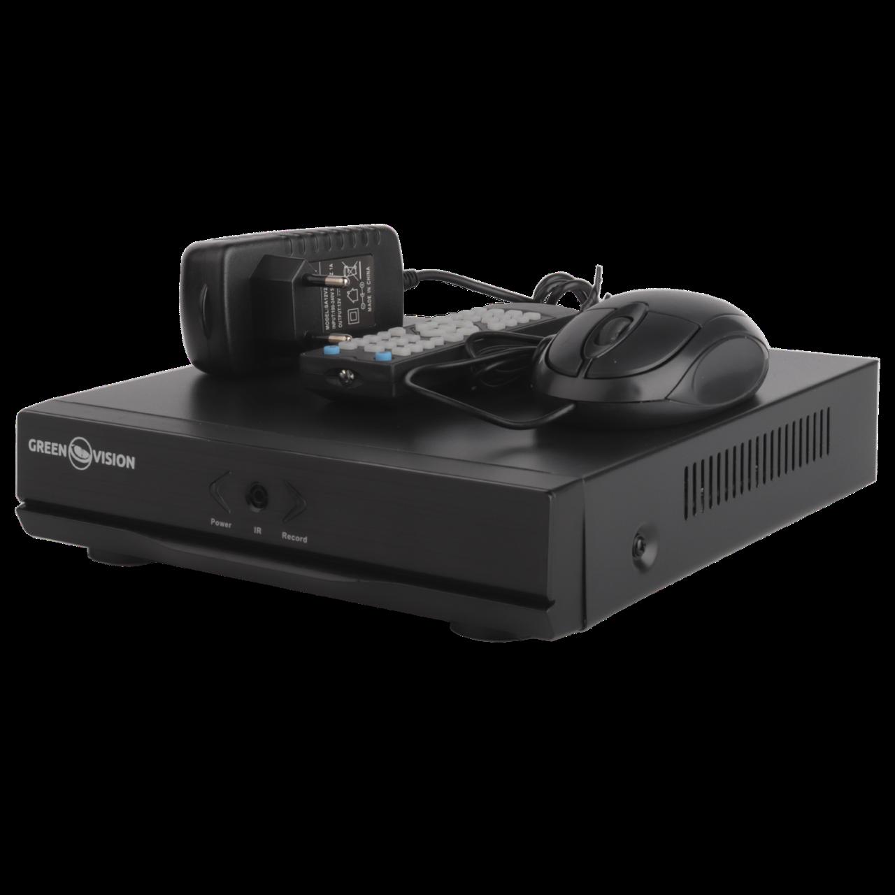 Відеореєстратор для гібридних, AHD і IP камер GREEN VISION GV-A-S032/04 1080N