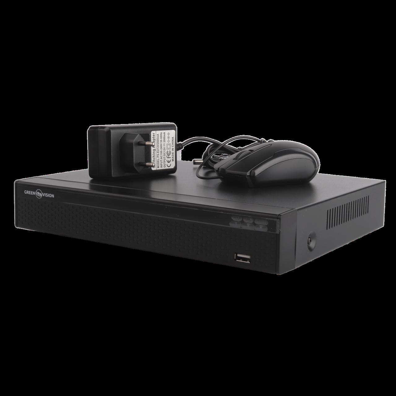 Відеореєстратор NVR для IP камер Green Vision GV-N-E004/9 1080p