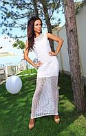 Платье в пол с прошвой (2 цвета)