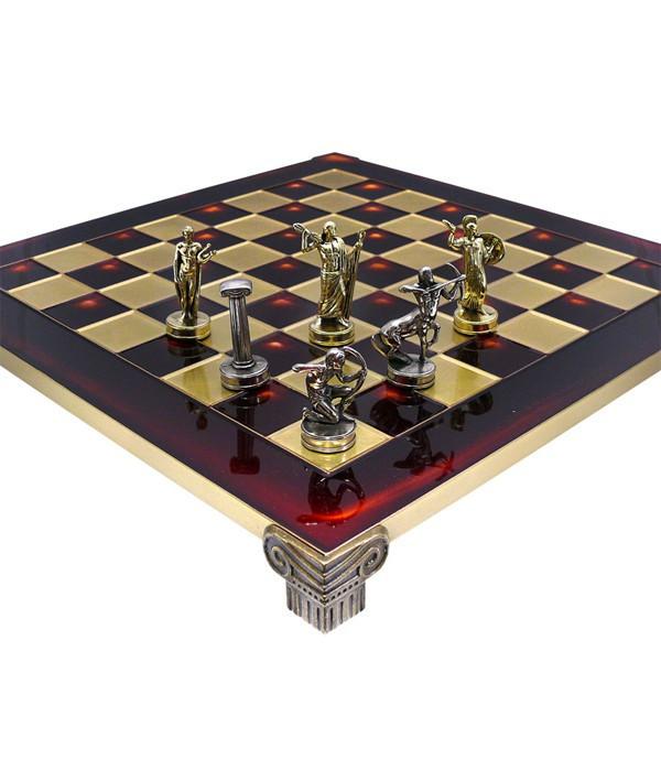 Шахматы Manopoulos Греческая мифология в деревянном футляре 36х36 см (S5RED)