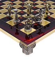 Шахматы Manopoulos Греческая мифология в деревянном футляре 36х36 см (S5RED), фото 2