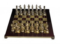 Шахматы Manopoulos Ренессанс-Рыцари в деревянном футляре 36х36 см (S9RED)