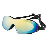 Очки для плавания Dolvor, поликарбонат, силикон, черный (DLV11152-(blk))