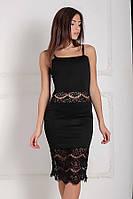S (44) / Жіноче вечірнє чорне плаття Trisha