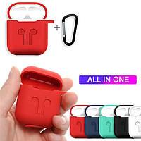 Силиконовый противоударный чехол - Airpods Apple. Красный
