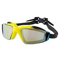 Очки для плавания Dolvor, поликарбонат, силикон, черный (DLV11177-(blk))