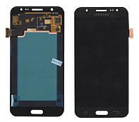 Дисплей + сенсор Samsung J500H Galaxy J5 Чорний LCD TFT , з регулюванням яскравості