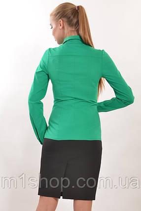 Женская облегающая рубашка с гипюром на груди (Джая ri), фото 2