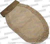 Набор овальных хлопковых ковриков для ванной Alanur Damaks Oval БЕЖЕВЫЙ
