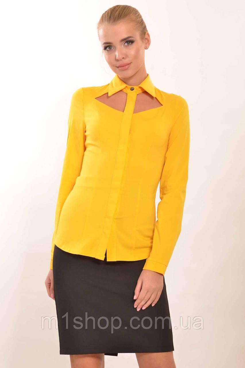 Женская облегающая рубашка с вырезами на груди (Рия ri)