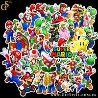 "Набор наклеек Марио - ""Mario Stickers"" - 50 шт, фото 1"