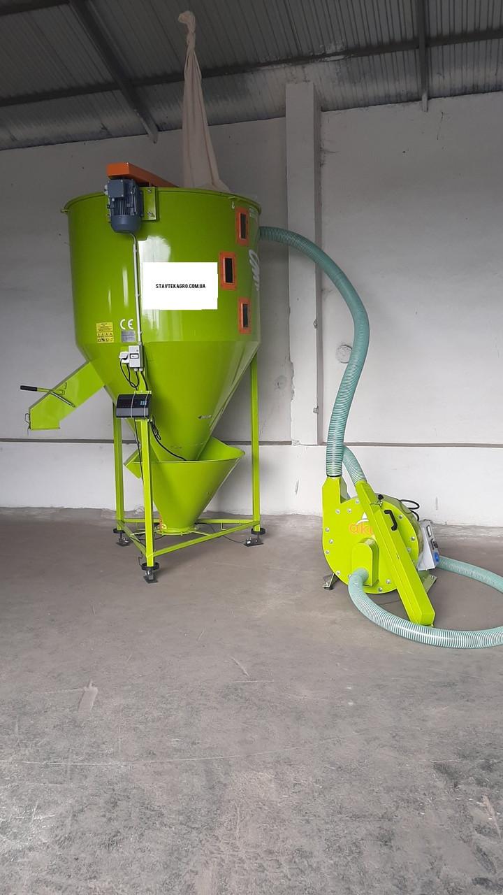 Комбікормовий міні завод для виробництва комбікормів (1000 кг)