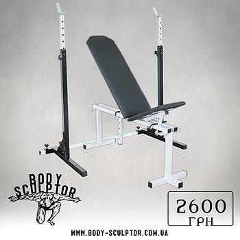 Лавка регульована (до 200 кг) + Стійки під штангу (до 200 кг)
