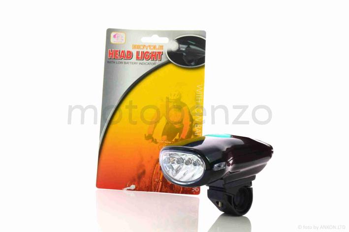 Фара вело WINNER черная 4 диода, фото 2