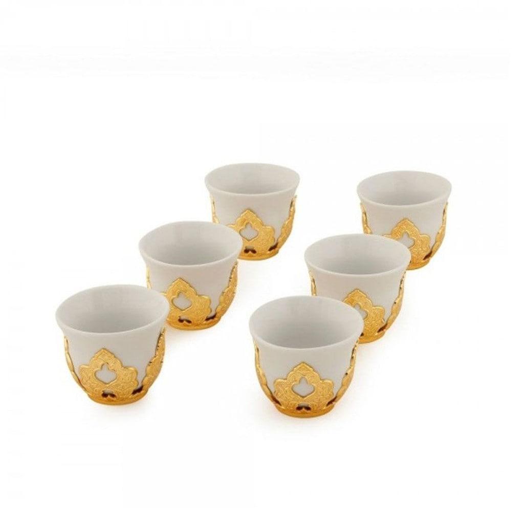Набор чашек для кофе Золотистый Мирра на 6 персон