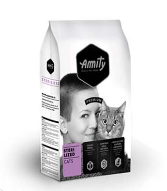 Корм AMITY Sterilized для стерилізованих котів, с мясом птицы, 20 кг