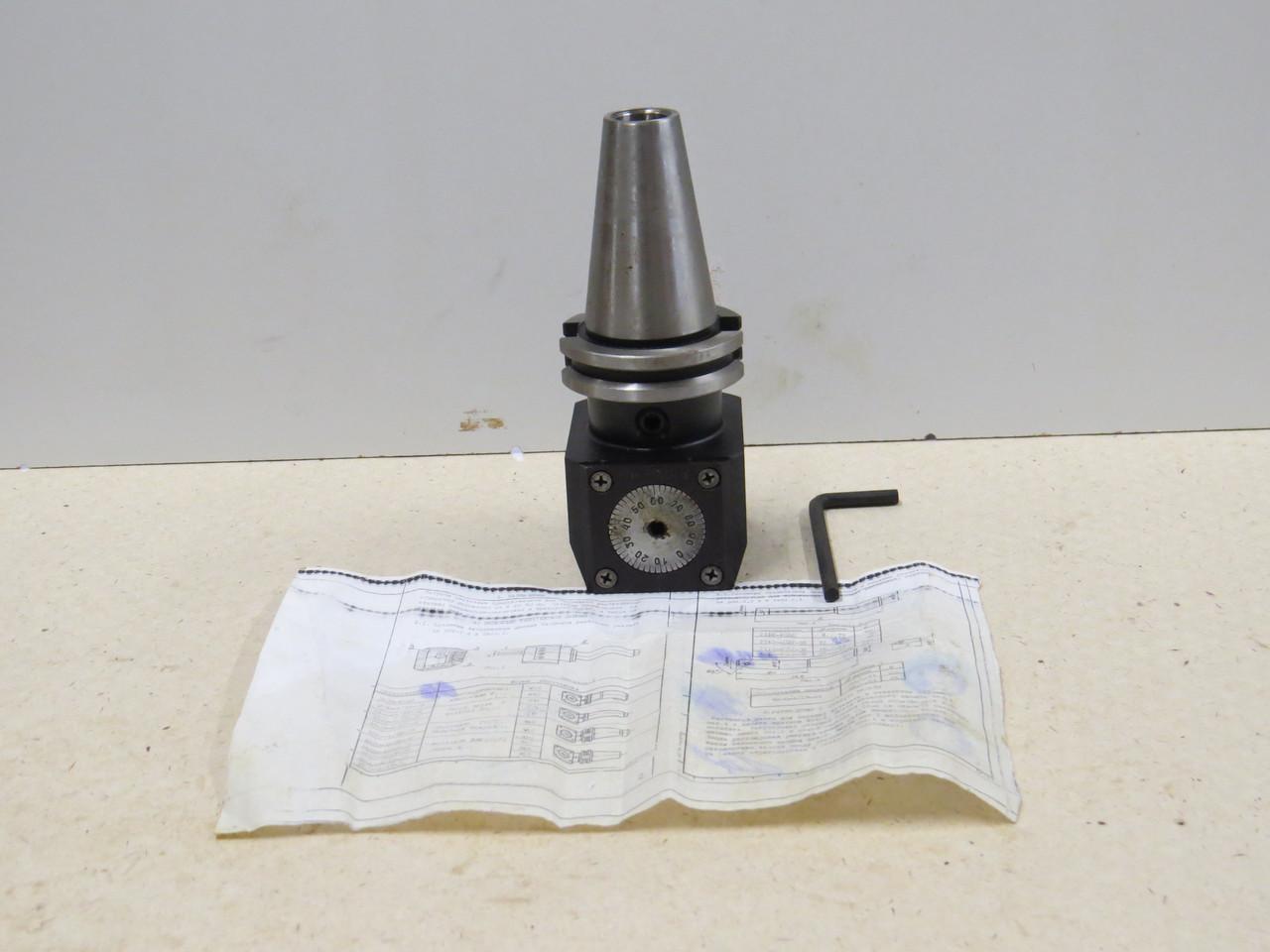 Патрон расточной с микрометрической подачей СК40 д.20мм диапозон 8-45\0,01  6300-4018-08 (ОРША)