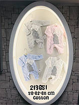 Теплые человечки с объемным мишкой для малышей 2-6 месяцев
