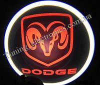 DODGE/ Додж Врезные проекторы логотипа автомобиля в двери