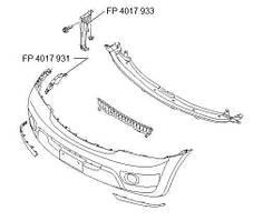 Крепеж бампера переднего правый KIA Sorento 06-09 (FPS)