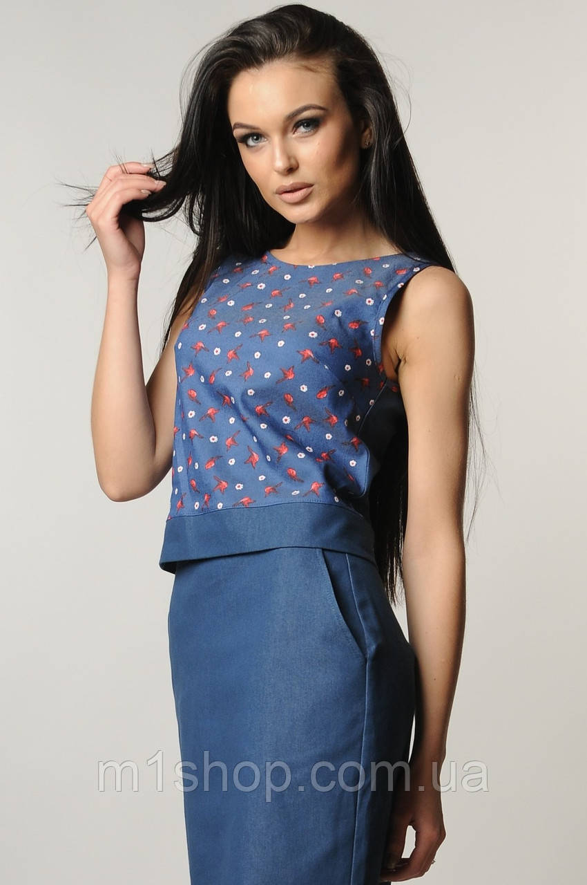 Женская блузка-топ без рукавов (Нои ri)