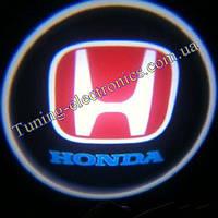 HONDA/Хонда синяя Врезные проекторы логотипа автомобиля в двери