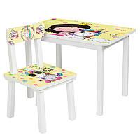 Столик Bambi Принцесса и единорог BSM2K-31 White/Yellow