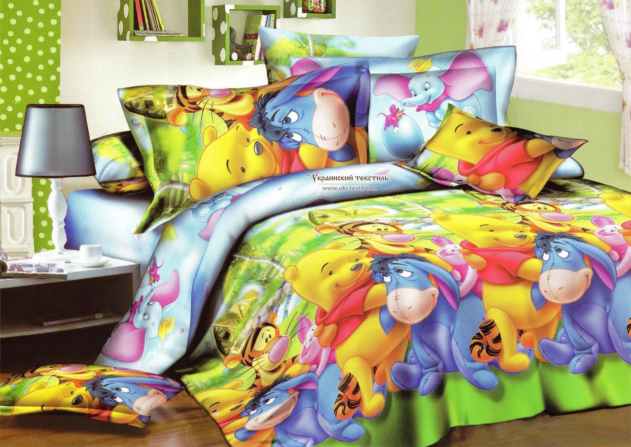 Комплект постельного белья подростковый  Винни Пух