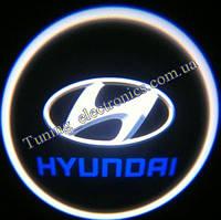 HYUNDAI/ Хундай синяя Врезные проекторы логотипа автомобиля в двери