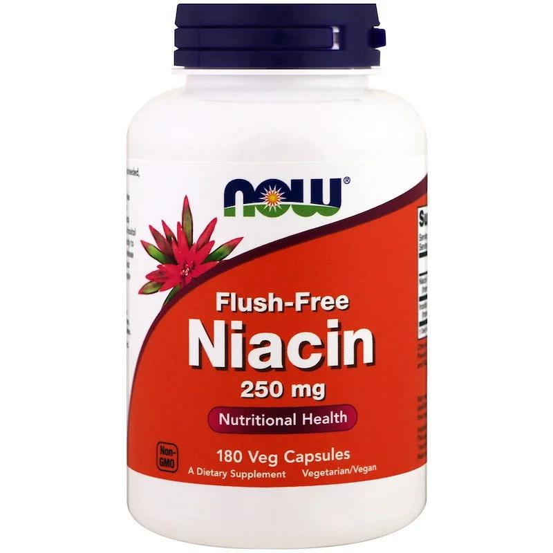 NOW_Flush-Free Niacin 250 мг - 90 веган кап